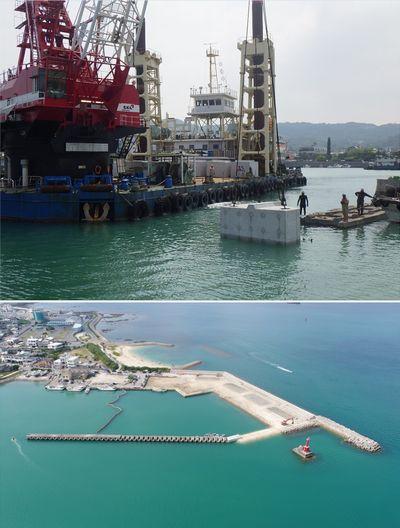 中城湾港(馬天地区)取付護岸整備(H29)